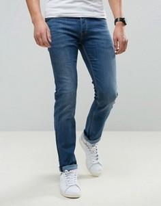 Эластичные темно-синие джинсы слим с заниженной талией Lee Powell - Синий
