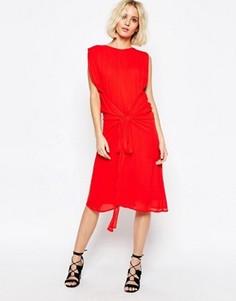 Платье с завязкой на талии Paisie - Красный