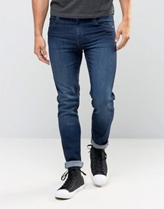Темные зауженные эластичные джинсы Cheap Monday - Синий