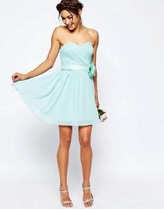 Шифоновое платье мини ASOS WEDDING - Синий
