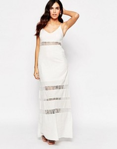 Короткое приталенное платье с сетчатыми вставками Glamorous - Белый