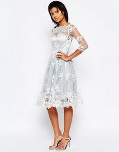 Платье миди с кружевной накладкой Glamorous - Синий