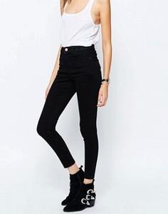 Черные джинсы скинни с завышенной талией ASOS TALL Ridley - Черный