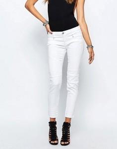 Байкерские джинсы с нашивками на коленках Replay Winaryde - Белый