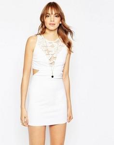 Платье с вырезами и кружевными вставками Wyldr Look Out - Белый