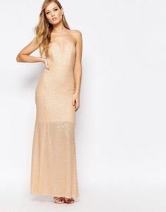 Расшитое пайетками платье макси TFNC Showstopper - Розовый