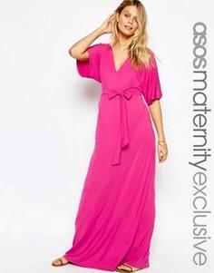 Платье-кимоно макси для беременных ASOS Maternity - Розовый