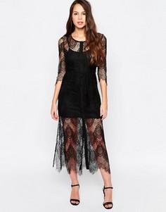 Кружевное платье-комбинация Goldie Karley - Черный