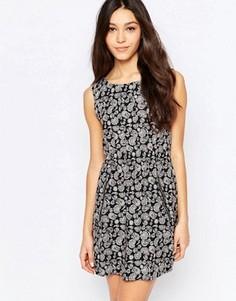 Платье на молнии с принтом пейсли Mela Loves London - Черный