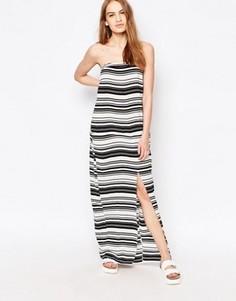 Платье-бандо макси в полоску Suboo - Белый