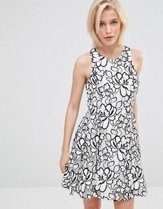 Кружевное платье с цветочным узором Greylin Bruna - Белый