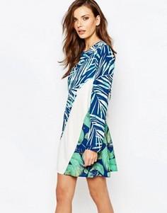 Платье-трапеция с принтом BCBG MaxAzria Tilli - Мульти