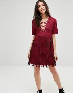 Платье с бахромой Raga The Wild - Красный