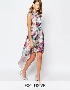 Асимметричное блестящее платье для выпускного True Violet - Мульти