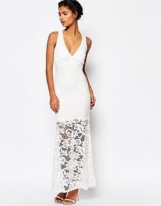 Кружевное платье макси Wyldr Dramatic - Белый