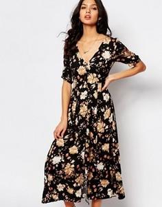 Чайное платье с цветочным узором Somedays Lovin - Мульти