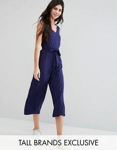 Комбинезон с широкими штанинами Glamorous Tall - Темно-синий