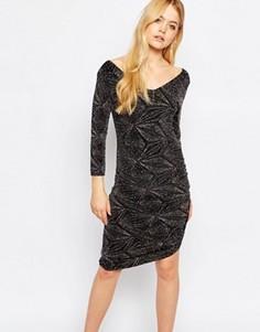 Облегающее платье с ромбовидным принтом Ichi - Черный