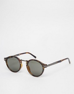 Солнцезащитные очки c круглыми стеклами в стиле ретро ASOS - Коричневый