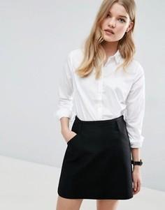 Приталенная белая рубашка ASOS - Белый