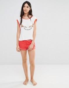 Пижамные шорты Minkpink Miso Sleepy - Красный