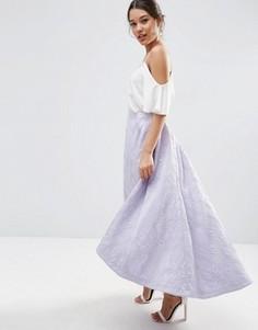 Жаккардовая юбка для выпускного ASOS - Фиолетовый