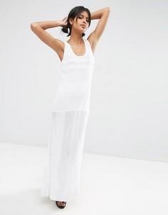 Вязаное платье макси ASOS - Белый