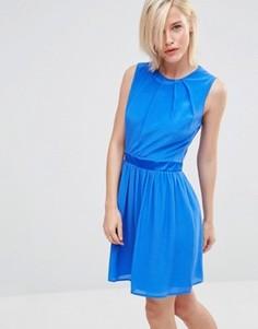 Приталенное платье Lavand - Синий