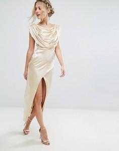 Платье миди VLabel Brook - Золотой