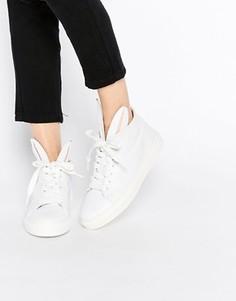 Белые кожаные кроссовки с кроличьими ушками Minna Parikka - Белый