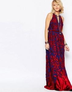 Платье макси Free People Hedgemaze - Красный
