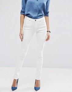 Бежевые джинсы с классической талией ASOS Lisbon - Белый