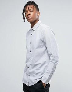 Рубашка классического кроя с воротником на пуговицах Only & Sons - Серый