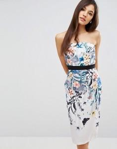 Платье-футляр с цветочным принтом Little Mistress - Мульти
