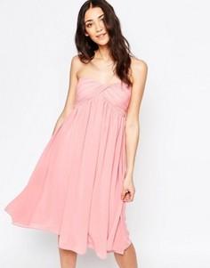 Платье-бандо миди Glamorous - Розовый