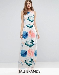 Платье макси с цветочным принтом Y.A.S Tall - Мульти