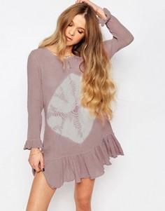 Платье мини с заниженной талией и принтом тай-дай Jens Pirate Booty Chantilly - Розовый