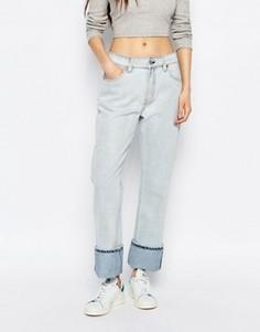 Свободные джинсы унисекс с классической талией Weekday - Синий