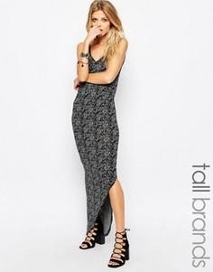 Асимметричное платье макси Noisy May Tall - Серый