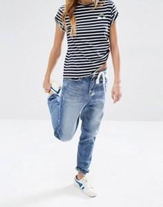 Джинсы в винтажном стиле с необработанным краем Daisy Street - Синий