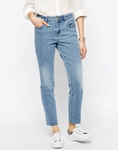 Выбеленные узкие прямые джинсы ASOS - Синий