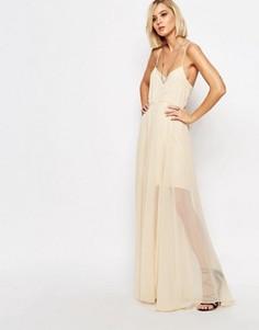 Платье макси Religion Nude Social - Розовый