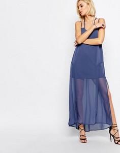 Голубое платье макси Religion Merge - Синий