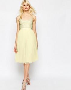 Тюлевое платье с отделкой Needle & Thread Coppelia - Розовый
