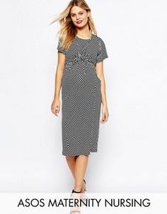 Платье для кормящих мам в горошек ASOS Maternity - Мульти