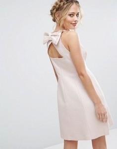 Платье с бантом на спине Coast Kayla - Розовый