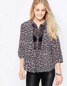 Блузка с принтом и вставками Only Ingrid - Розовый