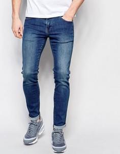 Облегающие джинсы из стираного денима Dr Denim - Синий