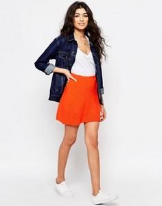 Стеганая мини-юбка Never Fully Dressed - Оранжевый