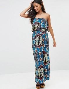 Платье-бандо с принтом Madam Rage - Мульти